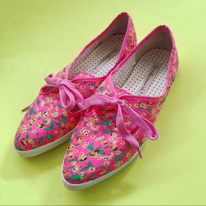 Bait Footwear Pink Floral Sneaker